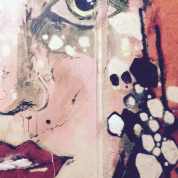 painting from fashion shoot in DC